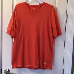 Men's Tommy Bahama Distressed V Neck Tee Shirt
